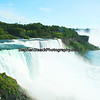Niagara Falls, American Falls (foreground) and Canadian Falls (backgound)