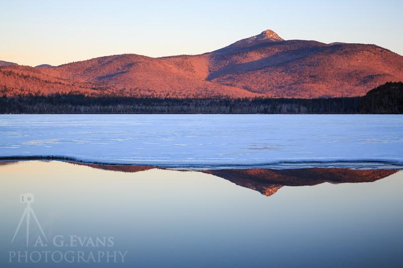 Mount Chocorua Winter Reflection