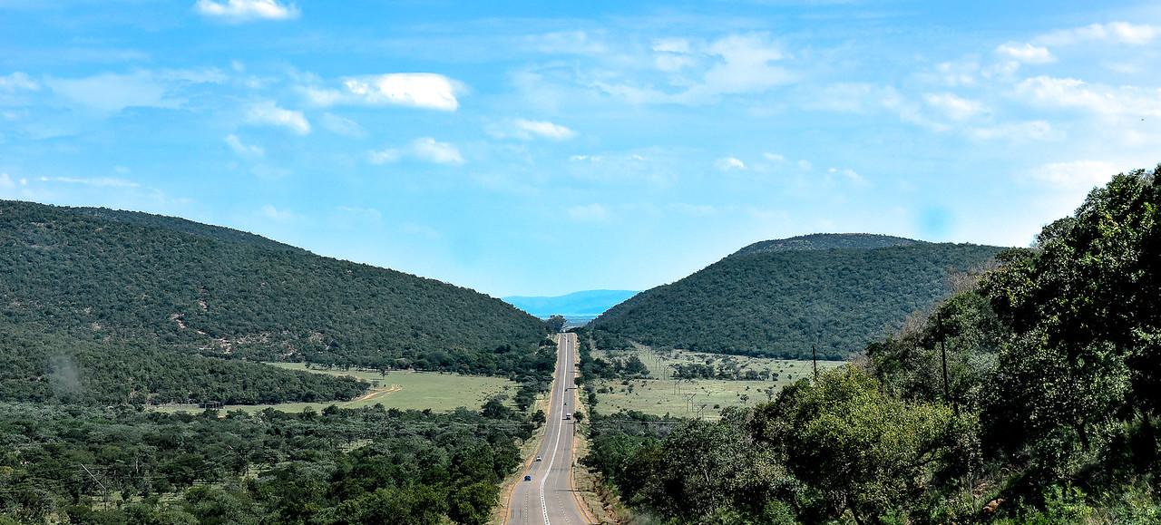 Road to African bushveld