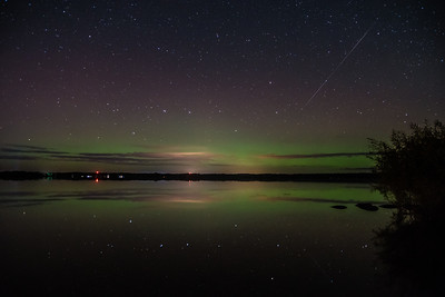 Shooting  Star and the Aurora