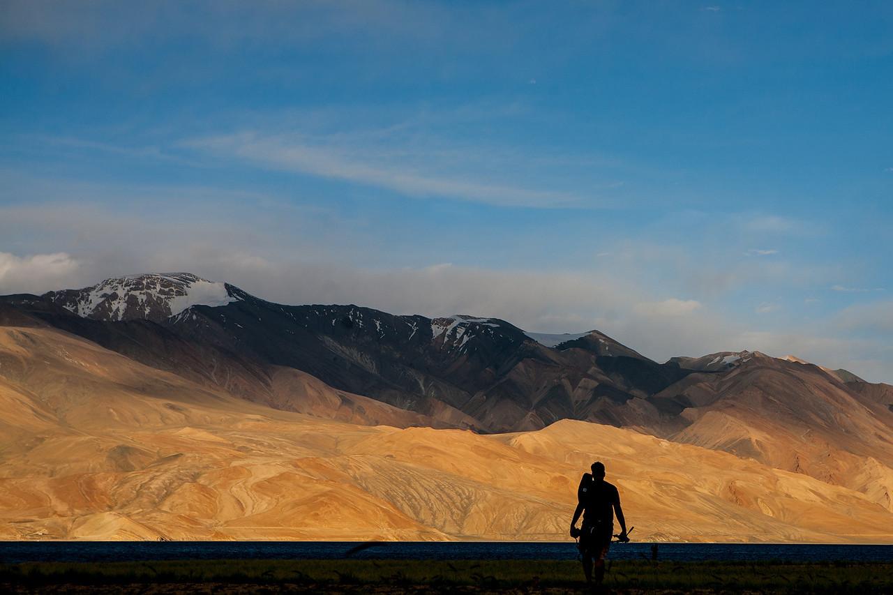 Tso Moriri, mountain lake in Ladakh, India