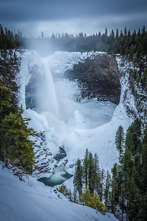 Helmcken Falls in Winter