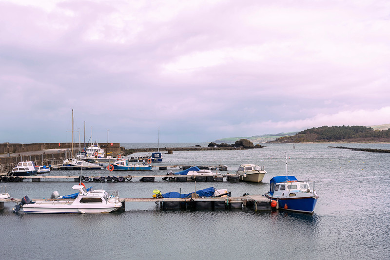Small Boats in Maidens Harbour Near Girvan Scotland