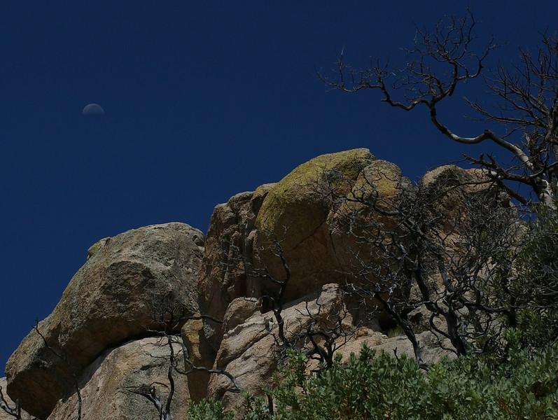 Moonrise over the Cliffs, Mount Lemon, AZ