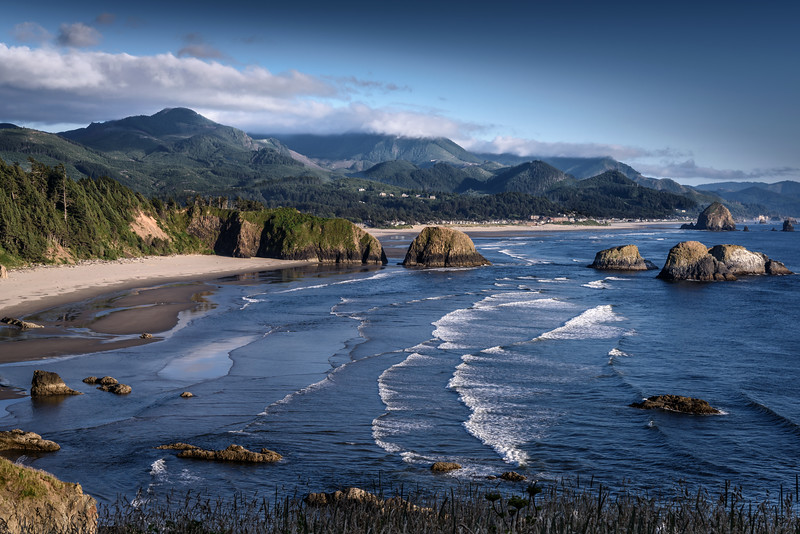Late afternoon light on Cannon Beach, Oregon