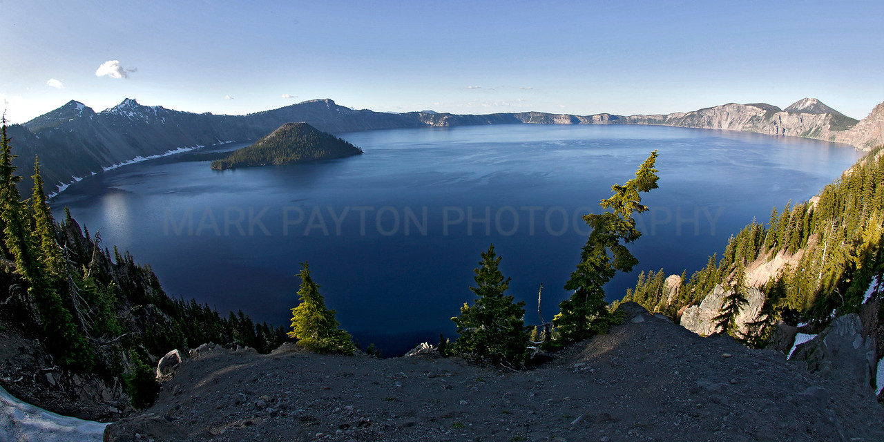 Crater Lake<br /> <br /> Crater Lake National Park, California<br /> <br /> Canon 1Ds MK I<br /> Canon EF 15mm f/2.8 Fisheye