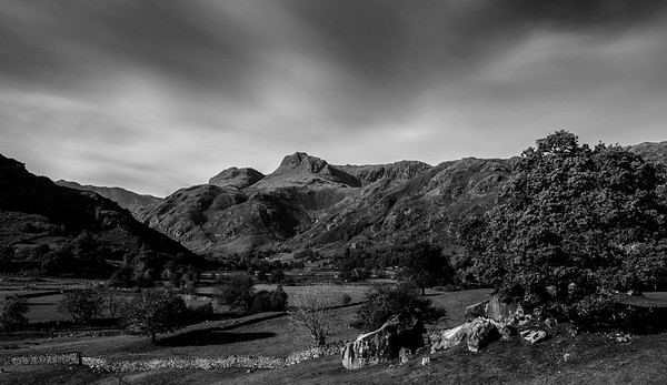 The Langdale Boulders and the Langdale Pikes