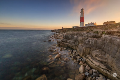Portland Bill lighthouse sunset