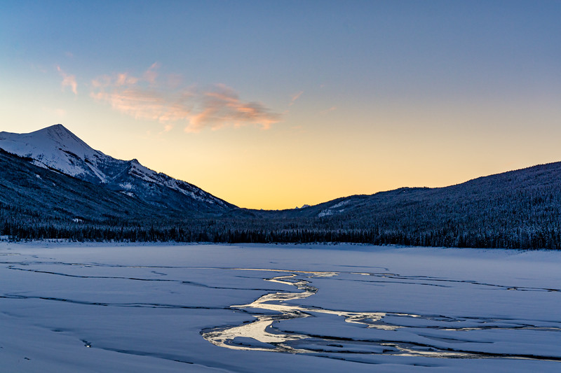 Winter Sunrise at Medicine Lake