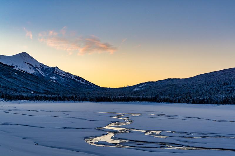 Winter Sunrise at Medicine Lake