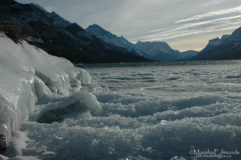 An Icy Waterton Day