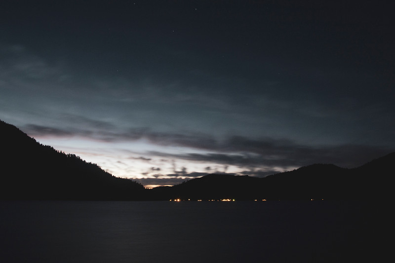 Dusk at Lake Crescent