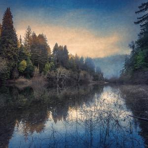 Gualala River, Dusk, Study 1