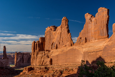 Park Avenue in Arches NP at Sunset