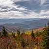 Overlooking fall colors from near the highest point in Great Smoky Mountains National Park.