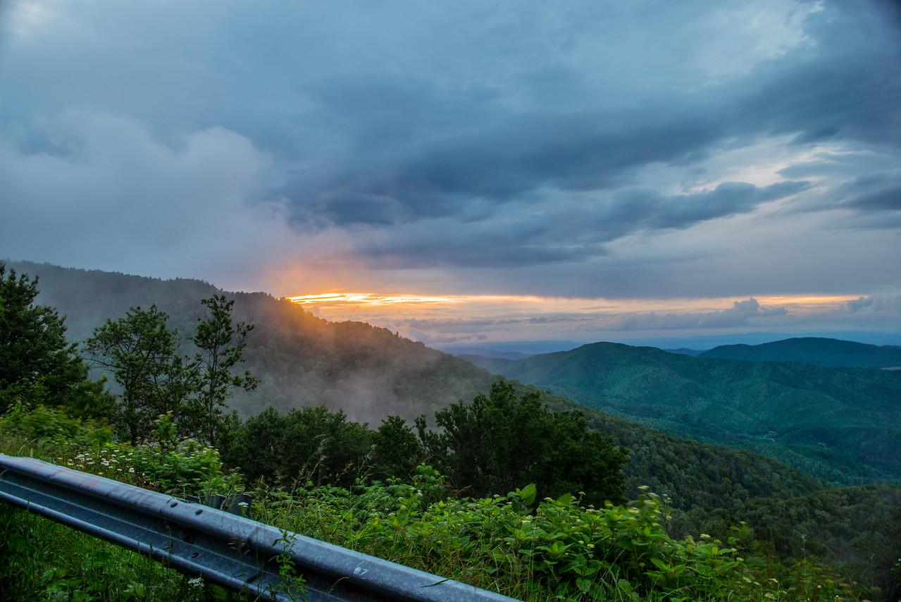 Roan Mountain Smoking Sunset