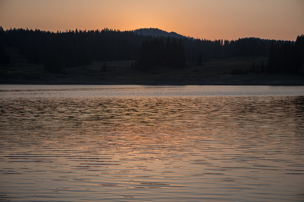 Sundown on the water - Grand Mesa