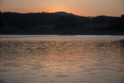Sundown on the water - Grand Mesa