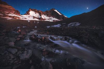 Broken Top Mountain - Astronomical Twilight