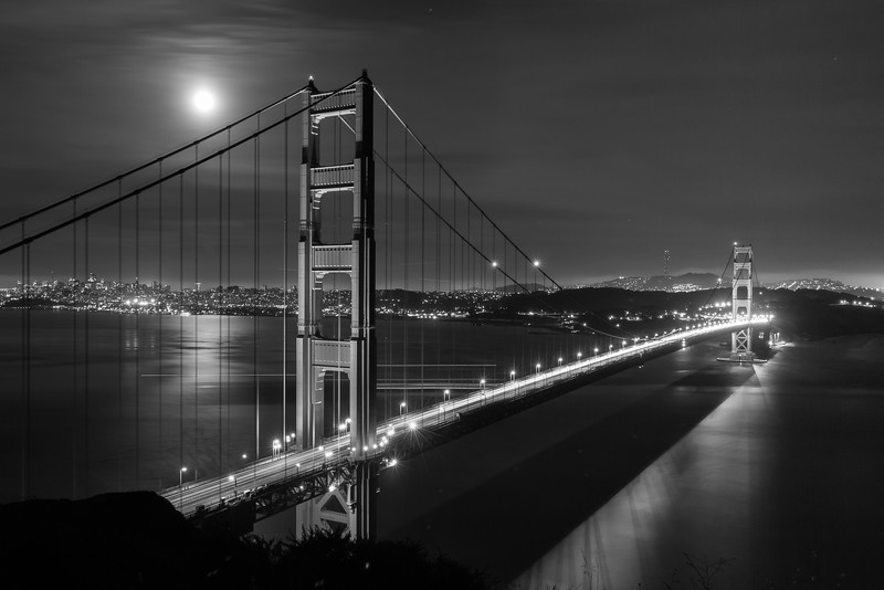 Golden Gate in Black and White