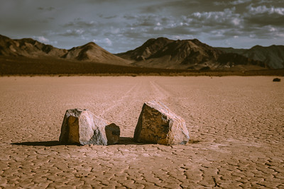 The moving rocks
