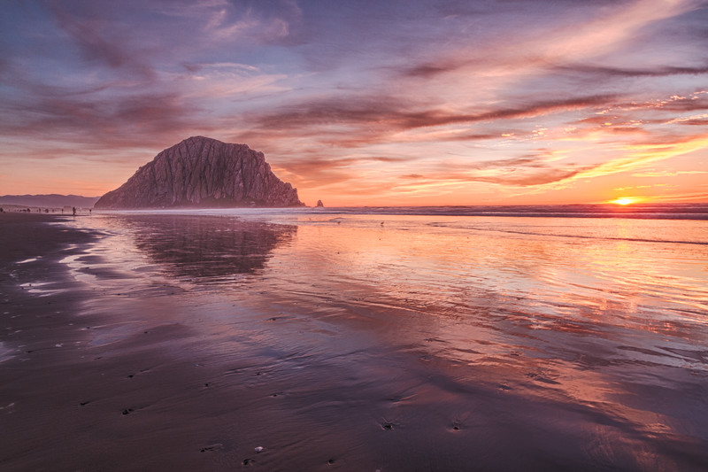 Morro Rock New Year's Eve Sunset