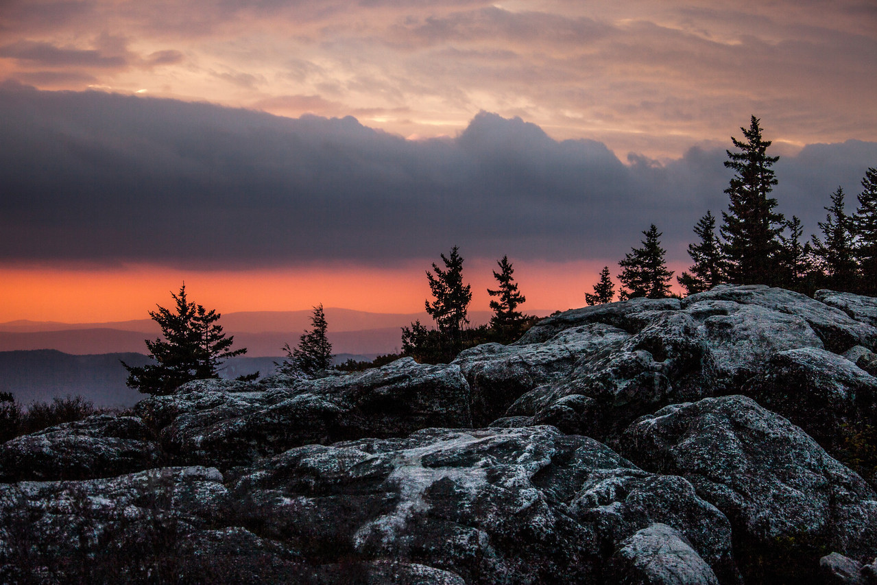 <a>Windswept Rocks At Sunrise, Dolly Sods, Autumn 2012