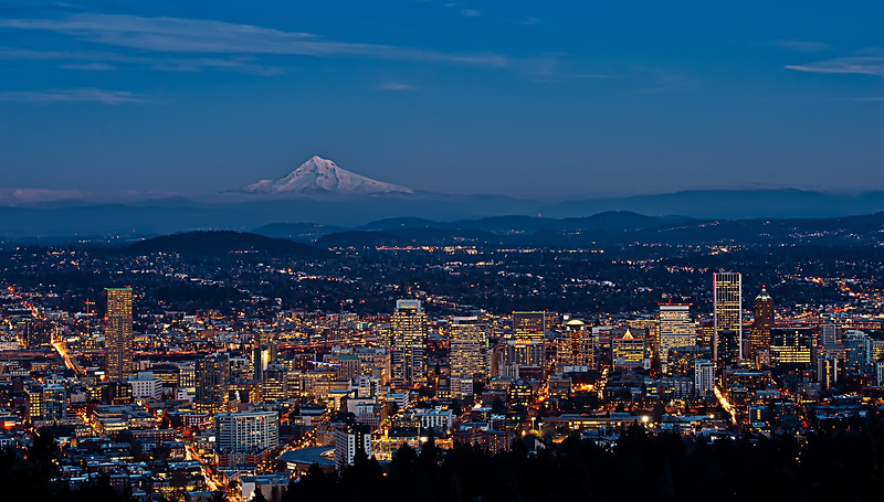Portland in the Blue Hour