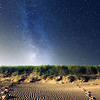 The milky way above the dunes