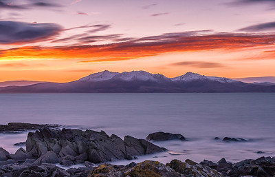 Snow Topped Arran Hills