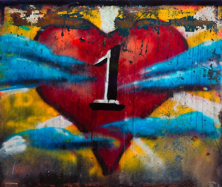 One Love Dumpster Detail - St John USVI