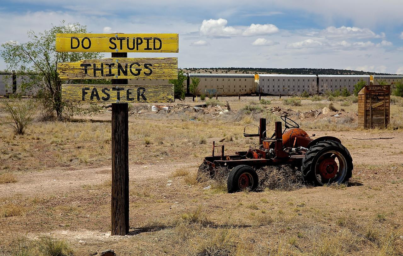Seligman, Arizona.  Route 66.