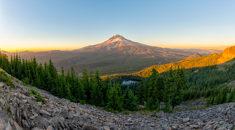 Mount Hood Sunset Fish Eye - Tom Dick and Harry Mountain-4