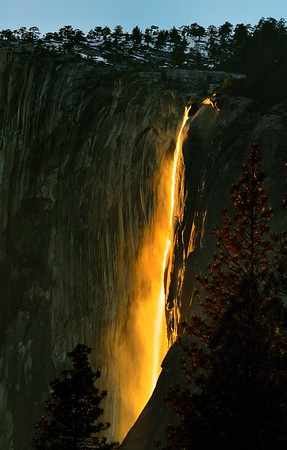 Horsetail Fall, February 2016, Yosemite National Park, CA