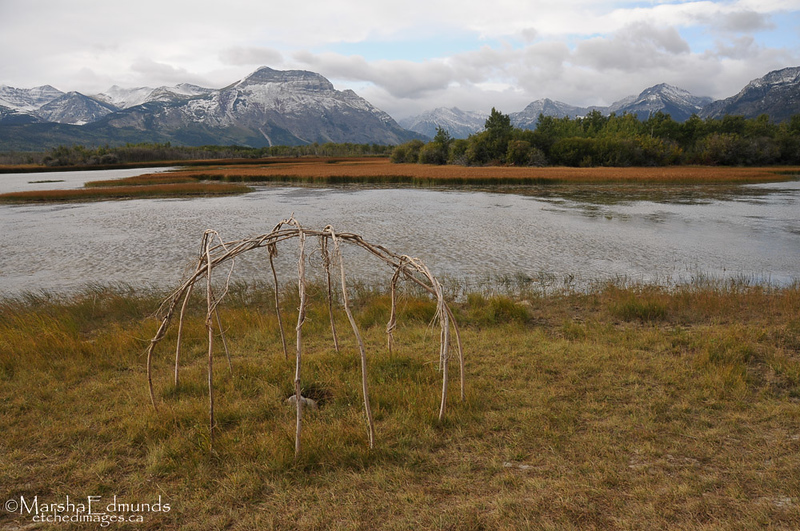 Sweat Lodge Structure by Waterton Lakes