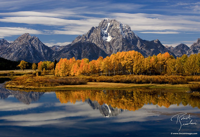 Fall color at Ox Bow Bend