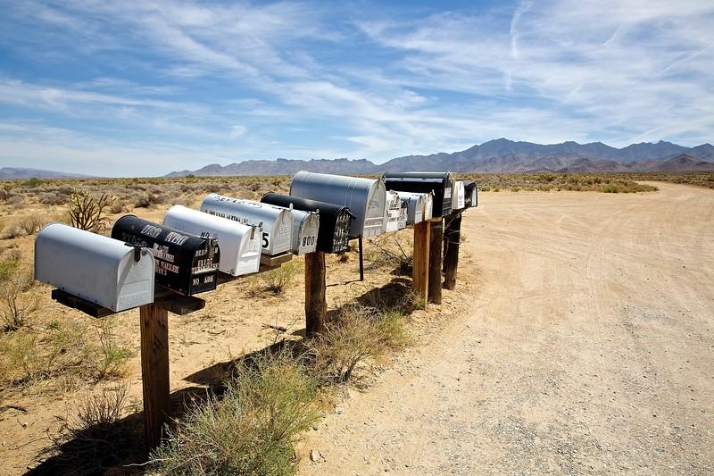 Mailboxes. Near Chloride, Arizona