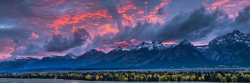 Teton Fire in the Sky