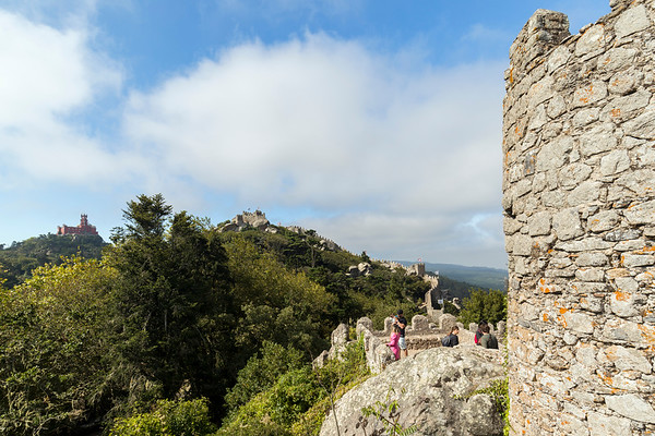 Pena Palace and Moorish Castle in Sintra, Portugal