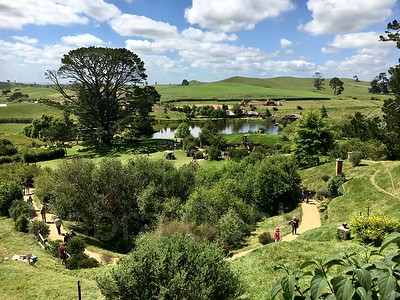 The Shire panoramic, Hobbiton, New Zealand