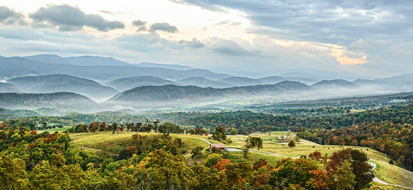Germany Valley, West Virginia overlook in early fall