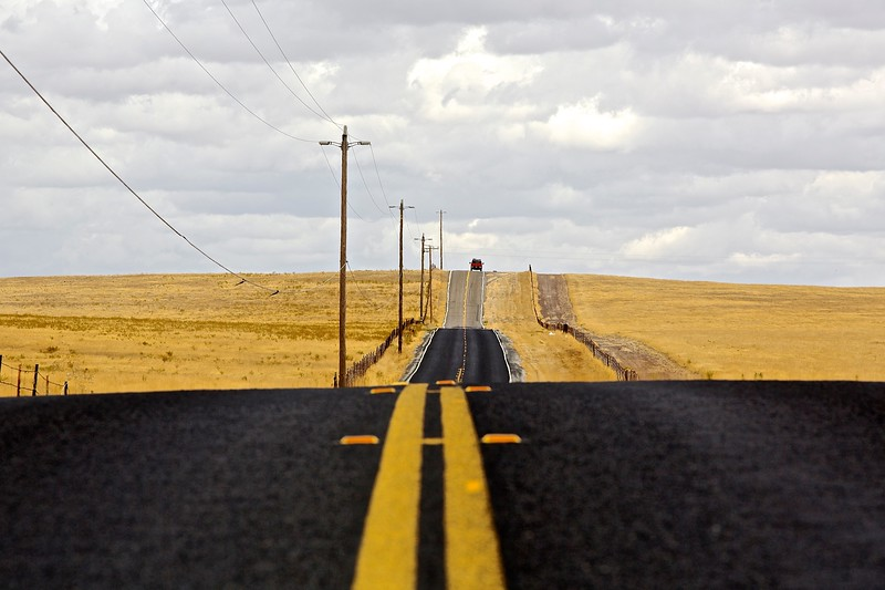 Highway. Sierra Foothills, California