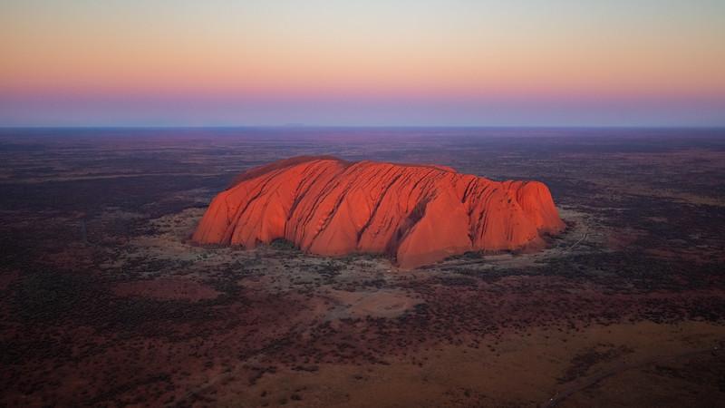Uluru / Ayers Rock from Heli