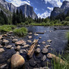 View of Merced River in Yosemite Valley