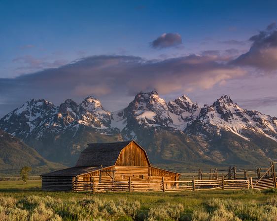 June 22 - Moulton  Barn , Teton Range in Jackson Hole, Wyoming