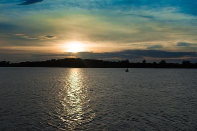 Sunset over Summit Lake