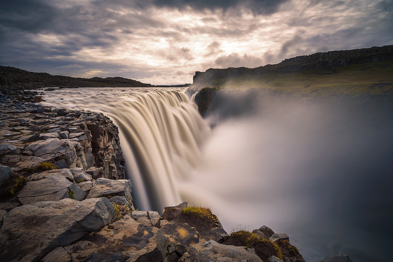 Dettifoss waterfall located on the Jokulsa a Fjollum river in Iceland