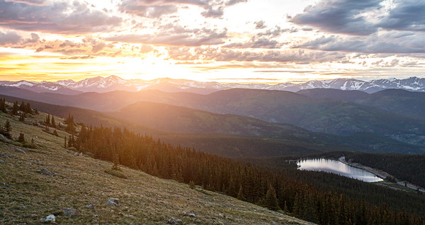 Mt. Evans Sunset