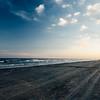 sundown on the shore