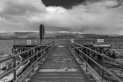 Winter pier at Luss